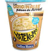 Fideos de arroz instantáneos sabor pollo listos en 4 minutos vaso 53 g