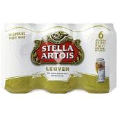 Cerveza rubia lager belga pack 4 latas 33 cl