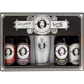 Cervezas degustación Estuche 4 variedades botellas 33 cl + vaso de regalo