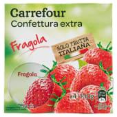 Carrefour Confettura Extra Fragole 4 X 25 G