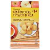 Carrefour Biscotti Con Confettura E Pezzetti Di Mela 350 G