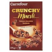 Carrefour Crunchy Muesli Intenso Cioccolato Fondente 375 G