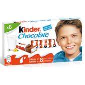 Chocolate Barrinhas Leite Kinder (8 un)