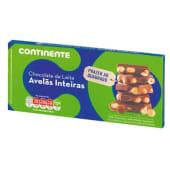 Tablete de Chocolate de Leite com Avelãs Inteiras Continente (emb. 200 gr)