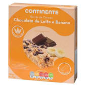 Barras de Cereais Chocolate Leite/Banana Continente (emb. 125 gr)