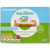 Tosta Extra Finas Integrais Continente Equilíbrio (emb. 100 gr)