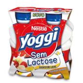 Iogurte Líquido sem Lactose Morango/Banana Yoggi Nestlé (emb. 4 x 160 gr)