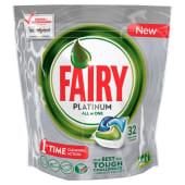 Detergente Máquina Loiça Pastilhas Platinum All in One Fairy (32 doses)