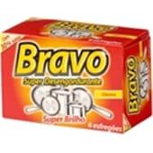 Esfregão Super Desengordurante BRAVO (6 unidades)