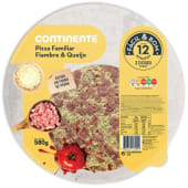 Pizza Familiar Queijo e Fiambre Fácil & Bom (emb. 580 gr)