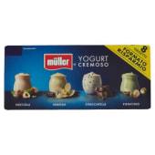 Müller, yogurt golosi nocciola/vaniglia naturale/stracciatella/pistacchio conf. 8x125 g