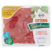 Citterio, Taglio fresco carpaccio di carne bovina 90 g