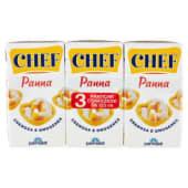 Chef, panna UHT cremosa e omogenea conf. 3x125 ml