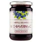F.lli Chiaverini & C., confettura extra di mirtilli selvatici 370 g