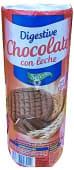 Galleta digestive rellena de chocolate con leche