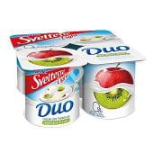 Yogur desnatado selección con trozos de manzana y kiwi 0% materia grasa
