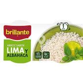 Arroz cocido sabor lima y albahaca pack envases 125 g