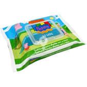 Toallitas húmedas infantiles Peppa para cara y manos paquete 20 unidades