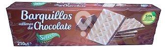 Barquillo cuadrado relleno de chocolate