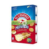 Snack de queso con galletas saladas para untar