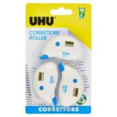 UHU Correttore Roller, 5mm x 6m, 3 pezzi