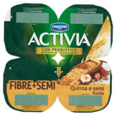 Danone, Activia Fibre Semi latte fermentato alla quinoa e semi conf. 4x125 g, semi e quinoa