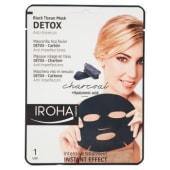 Iroha nature, maschera viso in tessuto Detox-Carbone 23 ml