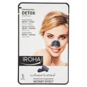 Iroha nature, strips pulizia Detox-Carbone punti neri 5 pezzi