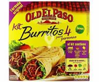 Kit para hacer burritos con tortillas de trigo, salsa original de tomate, pimiento y cebolla suave más sazonador de burritos