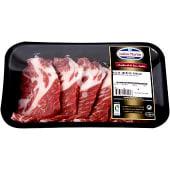 Aguja fresca de cerdo ibérico en filetes bandeja peso aproximado