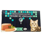 Comida gato mousse de lenguado