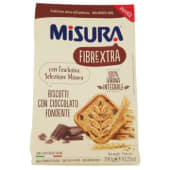 Misura, Fibrextra biscotti con cioccolato fondente 290 g