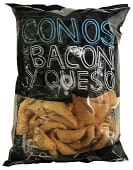 Aperitivo cono sabor queso y bacon