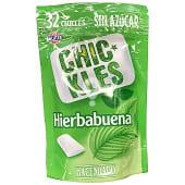 Chicle hierbabuena grageas sin azúcar