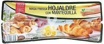 Masa hojaldre mantequilla refrigerada