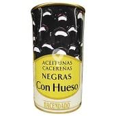 Aceituna negra cacereña con hueso