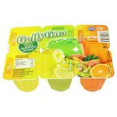 Gelatina sabores (2 limón, 2 naranja, 2 multifrutas)
