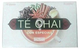 Infusión té chai con especias