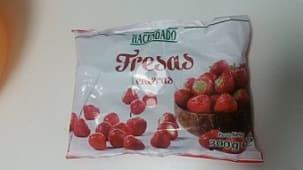 Fresas enteras congeladas