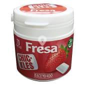 Chicle fresa grageas sin azúcar