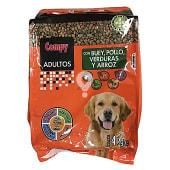 Comida perro seca mix con buey, pollo, verduras y arroz adulto razas medianas y grandes