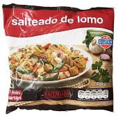 Salteado lomo (lomo, patatas, pimiento verde, zanahoria, champiñón y cebolla) congelado