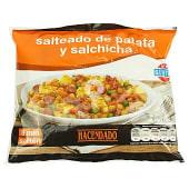 Salteado patata y salchicha (con guisantes, zanahoria, tortilla, cebolla y bacon) congelado