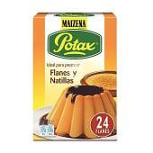 Potax preparado para flan o natillas 6 sobres para 24 flanes