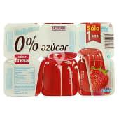 Gelatina de fresa 0% azúcar
