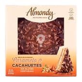 Tarta almendra, caramelo y cacahuete cubierta chocolate 8-10 raciones (redonda) pasteleria congelada sin gluten