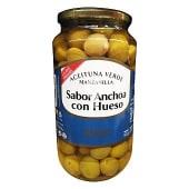 Aceituna manzanilla con hueso sabor anchoa (calibre grande)