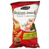 Aperitivo snack de quinoa con tomate y albahaca