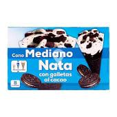 Helado con nata con galletas al cacao mediano
