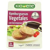 Hamburguesa vegetal con berenjenas